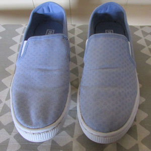 "Puma Woman""s Canvas Slip On Tennis Shoes SZ 7.5"